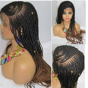 "fully braided  lace closure , 13"" by 6"" lace front"